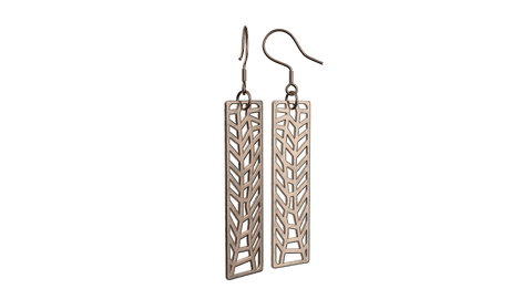 Antique Rose Gold Trellis Earrings