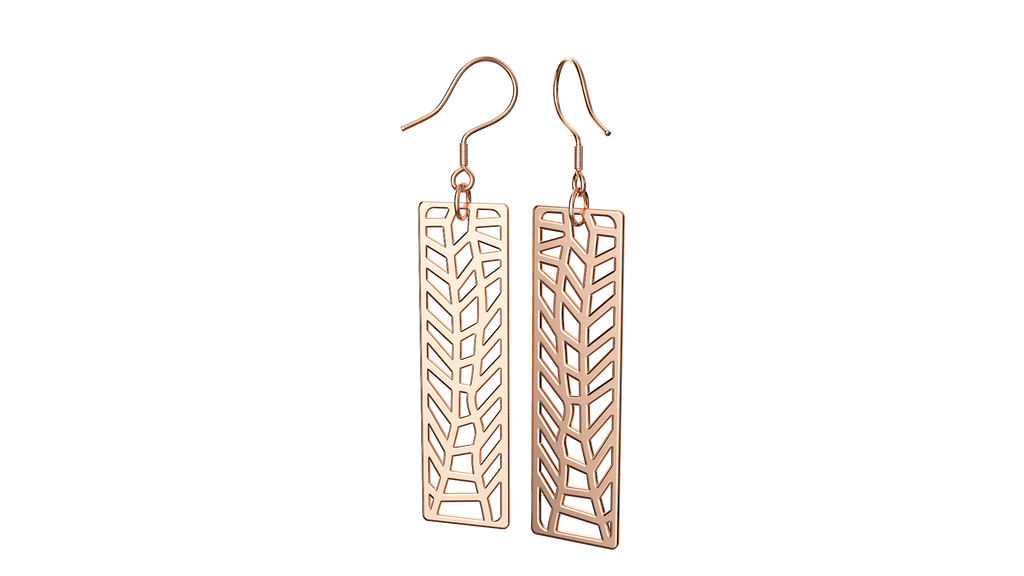 Rose Gold Trellis Earrings
