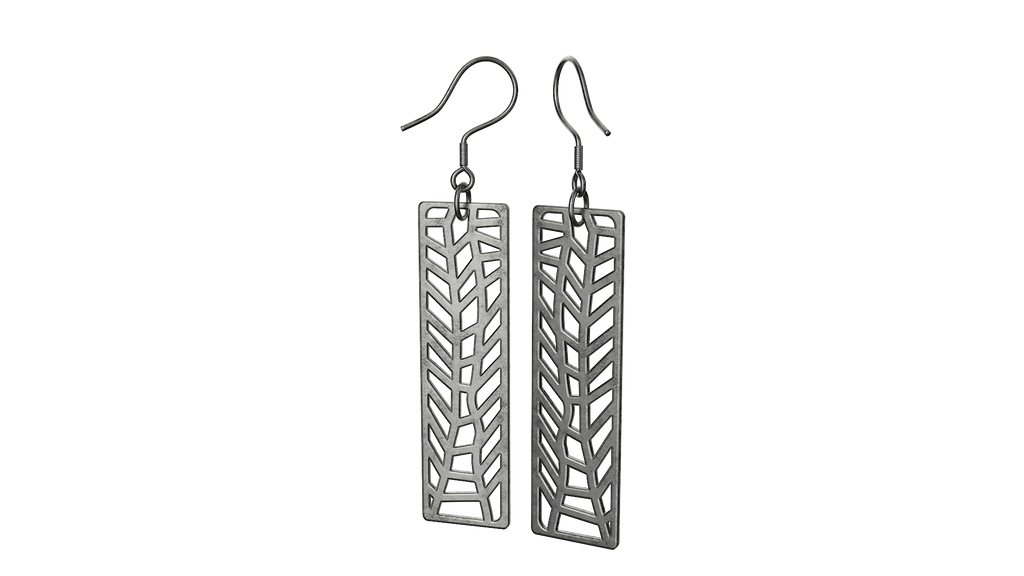 Antique Silver Trellis Earrings