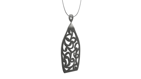 Antique Silver Trellis Pendant