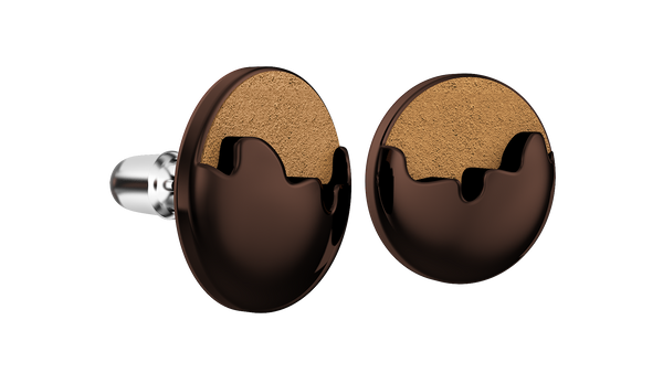 Coffee Round Earrings