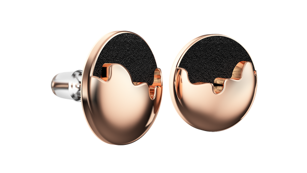 Rose Gold Round Earrings