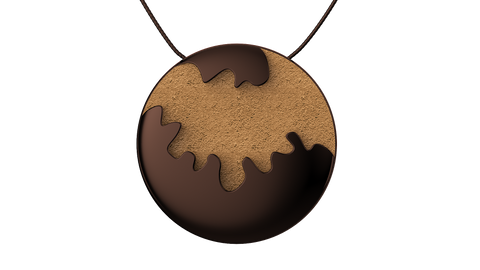 Coffee Round Pendant