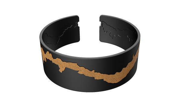 Black Solid Bangle