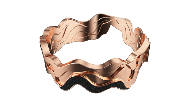 Rose Gold Contoured Bangle
