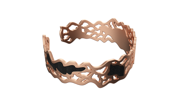 Rose Gold Jaali Bangle