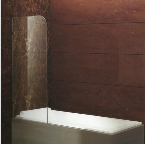 Above bathtub single glass panel KB01-BH
