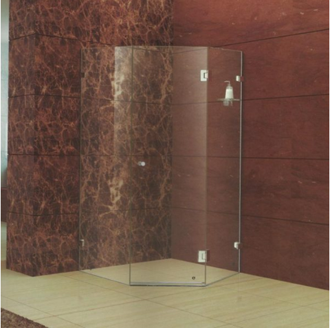 Roma Diamond-Frameless hinge door shower screen