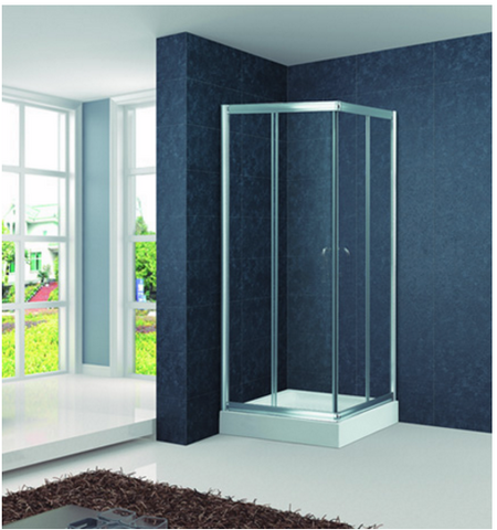 London Semiframeless sliding door shower screen KT6003