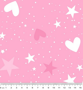Unicorn Magic - Magical Stars & Hearts - Pink