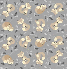 Load image into Gallery viewer, Little Critters - All Over Foxes on Grey