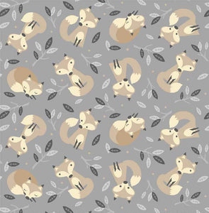 Little Critters - All Over Foxes on Grey