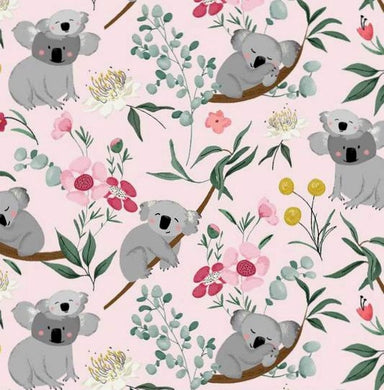 Aussie Friends - Koala's on pink