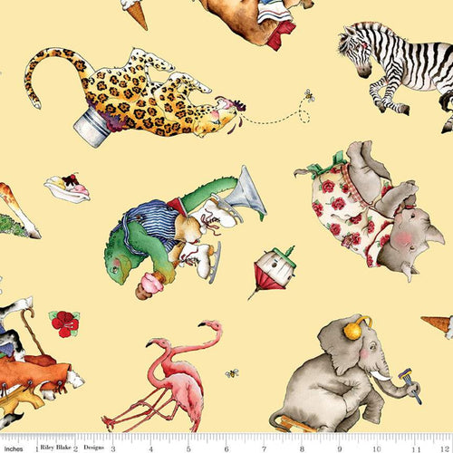 Hungry Animal Alphabet - Animal Toss Yellow
