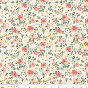 Gingham Gardens - Floral Cream