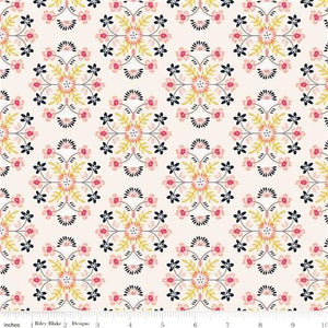 Golden Aster - Cream Motif