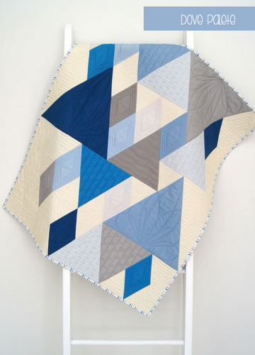 Baby on Trend Quilt Kit - Dove Colourway
