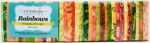 Rainbow Jelly Roll - Yellow Orange Lime