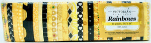 Rainbow Jelly Roll - Yellow and Blacks