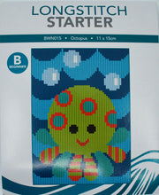 Load image into Gallery viewer, Create Handmade Starter Long-Stitch Kit - Octopus
