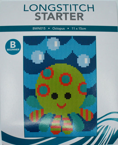 Create Handmade Starter Long-Stitch Kit - Octopus