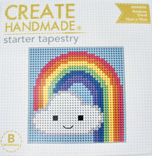 Load image into Gallery viewer, Create Handmade Starter Tapestry Kit - Rainbow Cloud