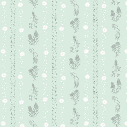 Little Aussie Friends - Botanical Stripe - Mint