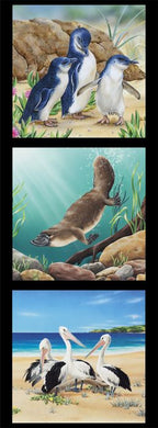 Wildlife Art 6 - 3 Block Panel