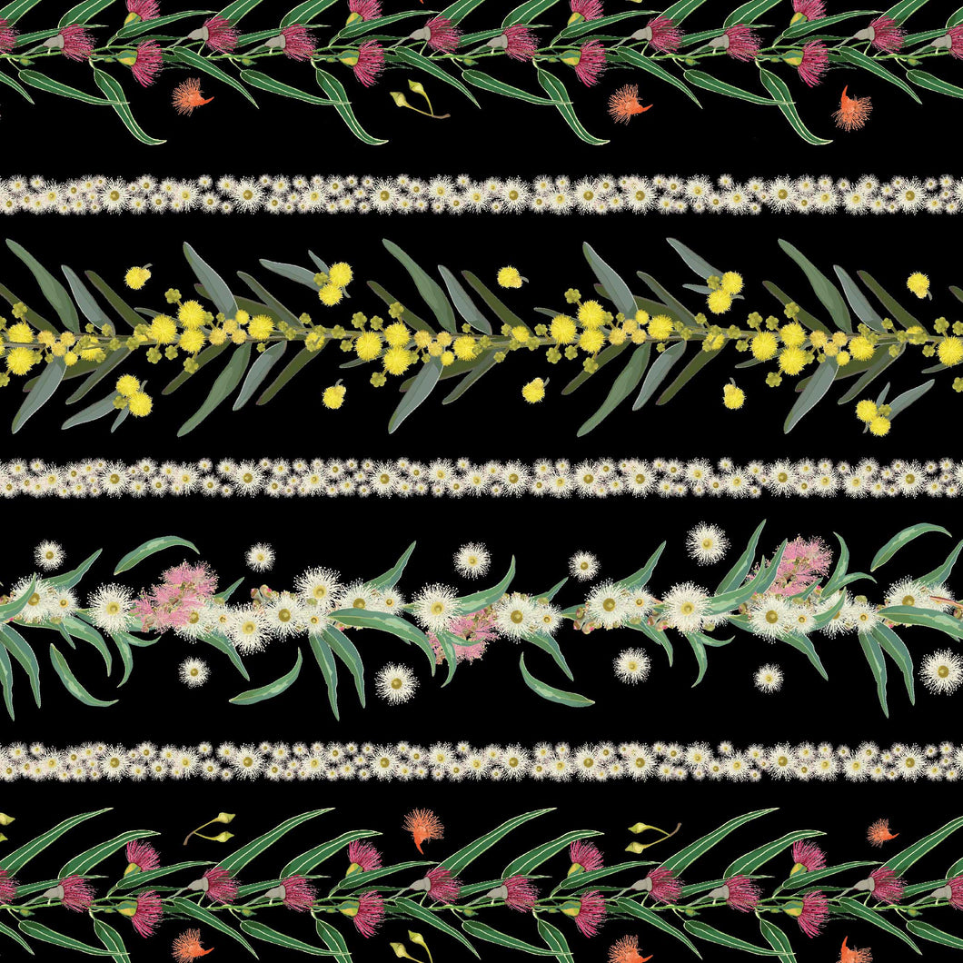 Flowers of Australia - stripe black