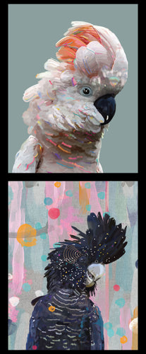 Karin Roberts Collection - White and Black Cockatoo's