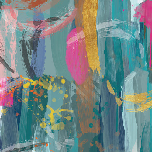 Karin Roberts Collection - Abstract Brushstroke - Brights