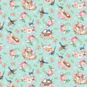 Little Wren Cottage - Teacups & Boots - Mint Green