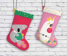 Load image into Gallery viewer, Festive Friends Stocking - Cockatoo