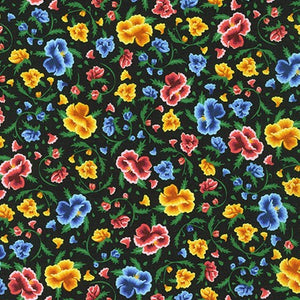 Frida Kahlo Floral - Black