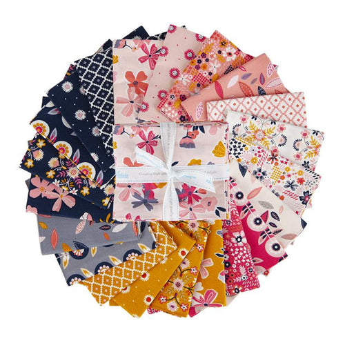 Golden Aster Fat Quarter Bundle – 21 pieces