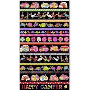 Happy Campers Borders by Loralie Designs - black