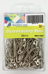 Matilda's Own Curved Safety Pins - 38mm