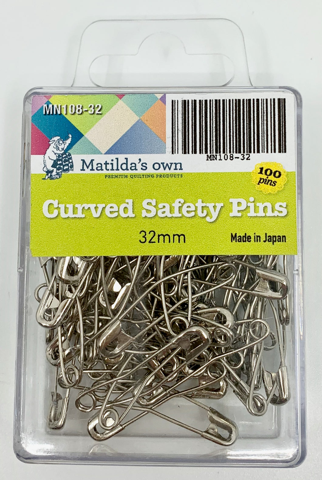 Matilda's Own Curved Safety Pins - 32mm