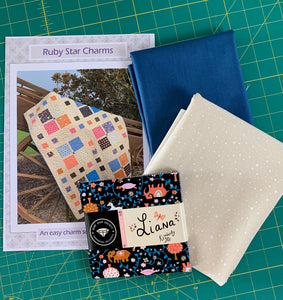 Ruby Star Charms Quilt Kit