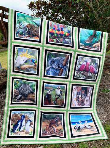 Aussie Wildlife Panel Quilt Kit