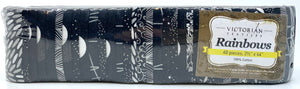 Rainbow Jelly Roll - Black & White Sparkle