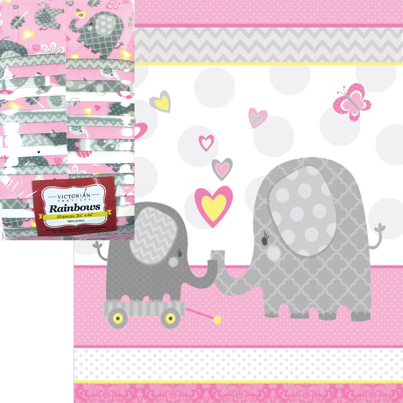 Little Lady Flannel Panel and Rainbow Kit