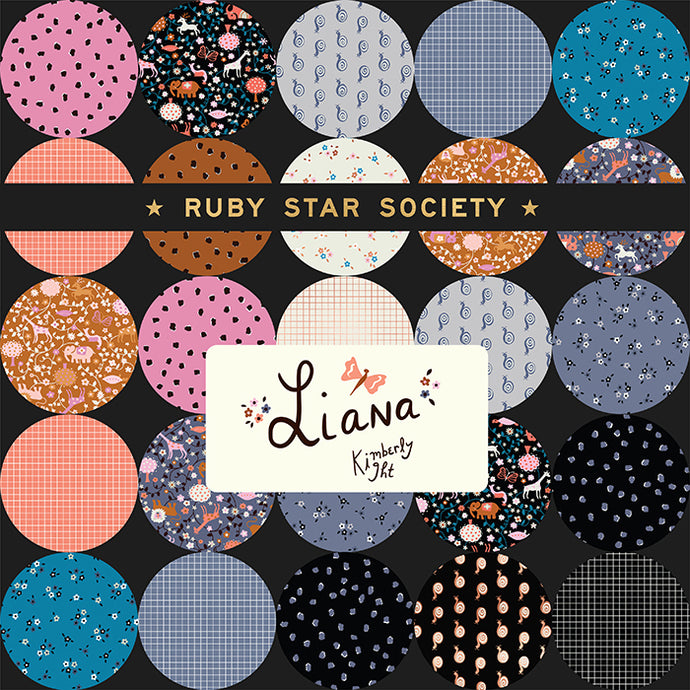 Moda Ruby Star Society Liana and Grid Junior Layer Cake