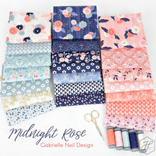 Load image into Gallery viewer, Midnight Rose Fat Quarter Bundle – 21 pieces