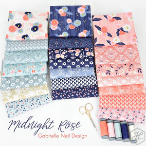 Midnight Rose Fat Quarter Bundle – 21 pieces