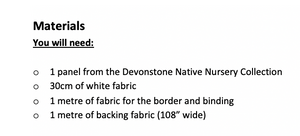 Native Nursery Panel PDF Quilt Pattern