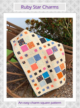 Load image into Gallery viewer, **FREE** Ruby Star Charms PDF Quilt Pattern