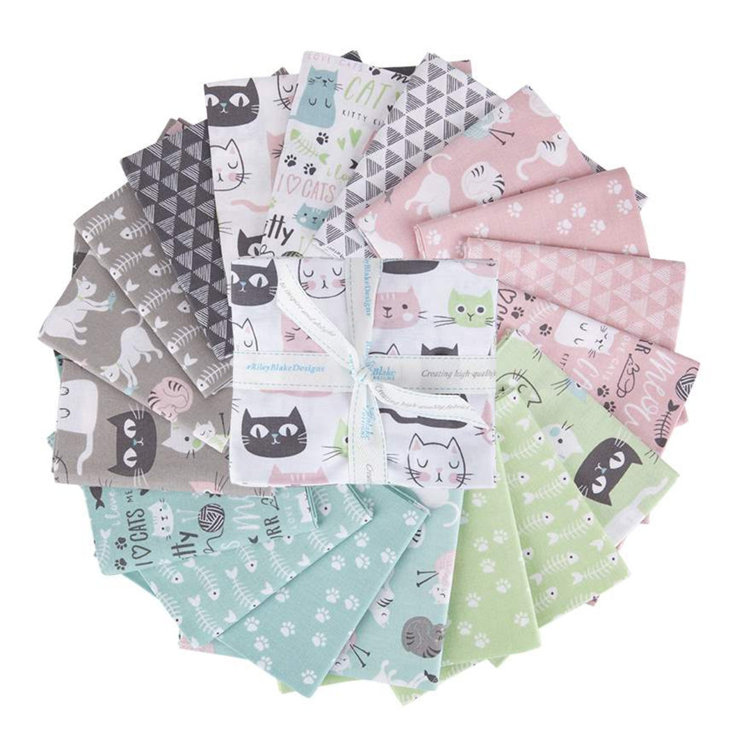 Purrfect Day Fat Quarter Bundle – 18 pieces