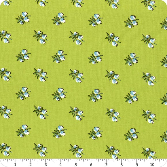 Roseberry Cottage - Green small floral