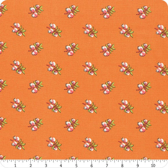 Roseberry Cottage - Orange small floral